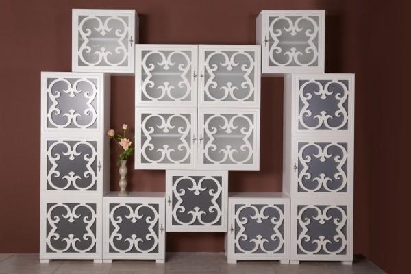 Куб София со стеклом (без стекла) белый